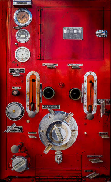 Photograph - Firetruck Auxiliary Pump Controls by TL Mair
