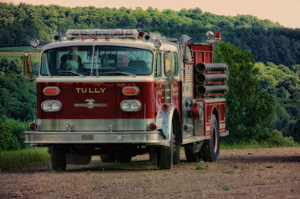 Wall Art - Photograph - Fire Truck  Engine 13 Village Of Tully New York Pa by Thomas Woolworth