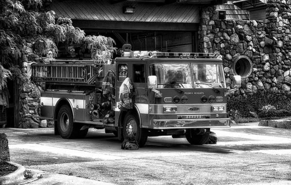 Central Fire Station Photograph - Fire Truck Peoria Heights by Thomas Woolworth