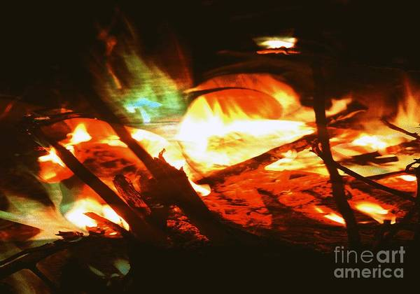 Photograph - Fire1 by Ash Soomro-Irani
