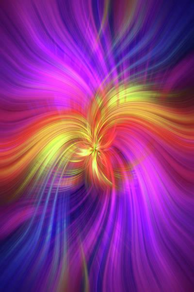 Blast Wave Wall Art - Photograph - Firebird. Mystery Of Colors by Jenny Rainbow