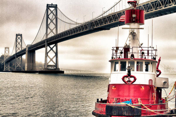 Fireboat Wall Art - Photograph - Fireboat And Bay Bridge Hdr by Jarrod Erbe