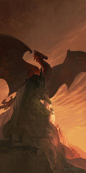 Wall Art - Digital Art - Fireborn Dragon by Sedone Thongvilay