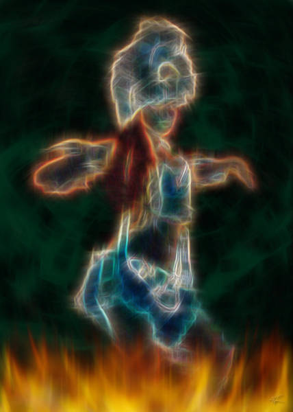 Digital Art - Firedancer by Kenneth Armand Johnson