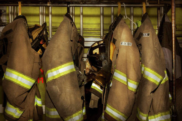 Photograph - Firefighter - Bunker Gear by Mike Savad