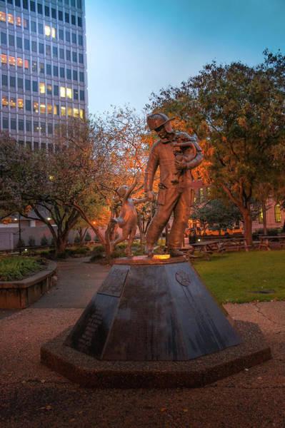 Wall Art - Photograph - Firefighter Larry Straughn Statue by Art Spectrum