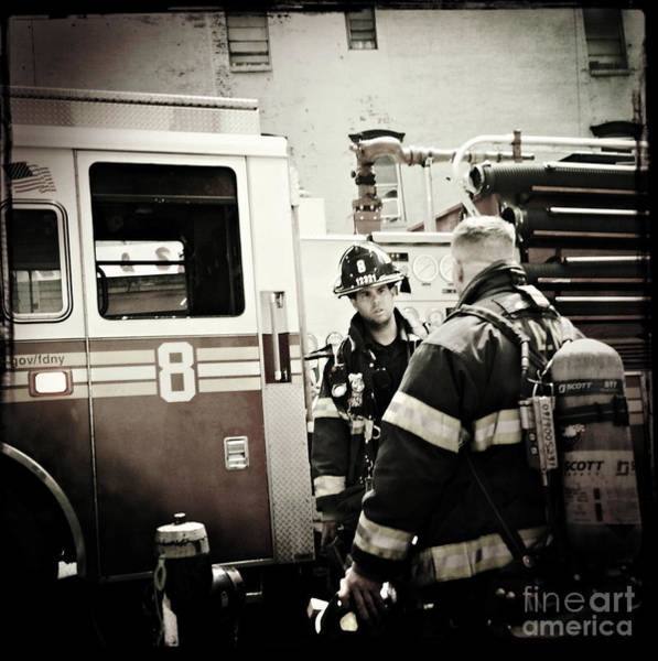 Wall Art - Photograph - Firefighters Of New York - Good Old Engine Eight by Miriam Danar