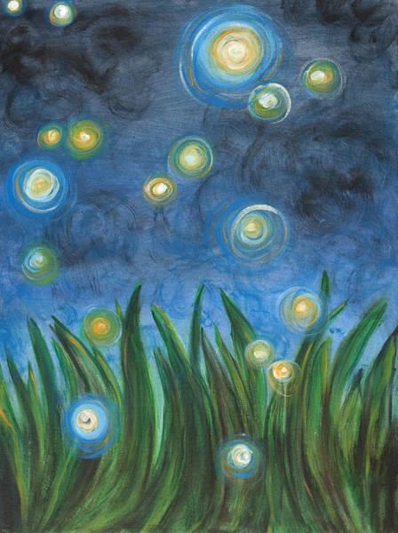 Firefly Painting - Fireflies by Kristen Fagan