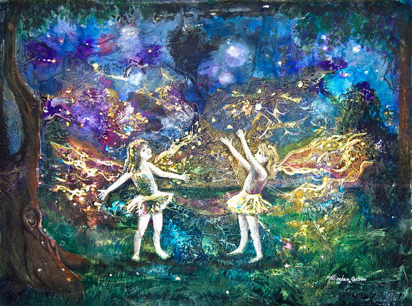 Firefly Painting - Firefly Frolic by Patricia Allingham Carlson