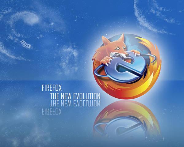 Firefox Digital Art - Firefox by Lissa Barone