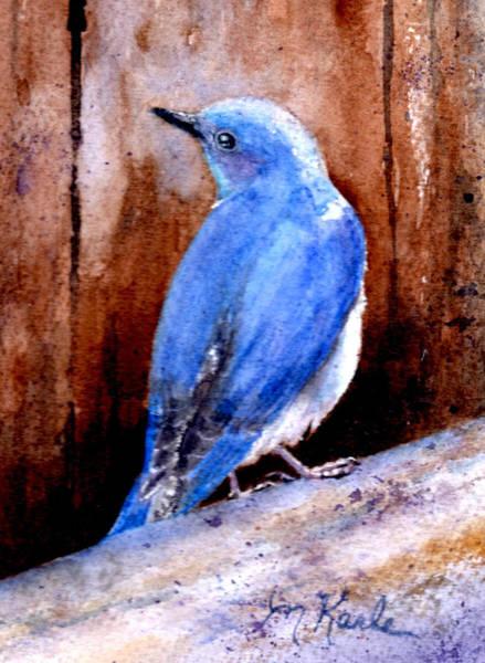 Firehole Bridge Bluebird - Male Art Print