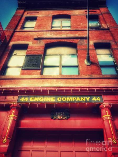 Wall Art - Photograph - Firehouse Engine Company 44 by Miriam Danar