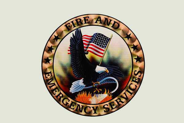 Fire Department Photograph - Fireman - Fire And Emergency Services Seal by Paul Ward