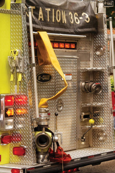 Photograph - Fireman - Station - 36-3 by Mike Savad