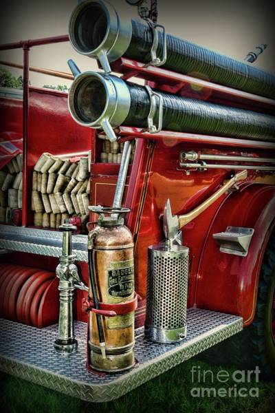 Wall Art - Photograph - Fireman Things On The Truck  by Paul Ward