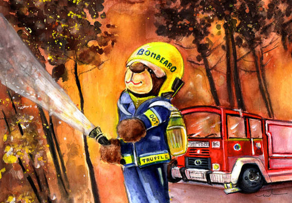 Wall Art - Painting - Fireman Truffle Mcfurry by Miki De Goodaboom