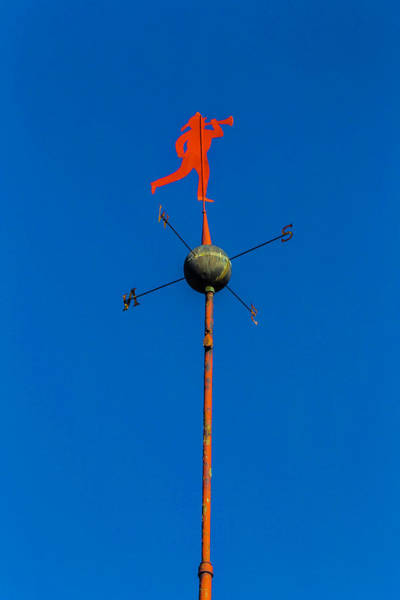 Wall Art - Photograph - Fireman Weather Vane by Garry Gay