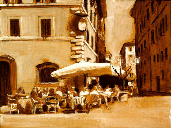 Dining Al Fresco Painting - Firenze by David Zimmerman