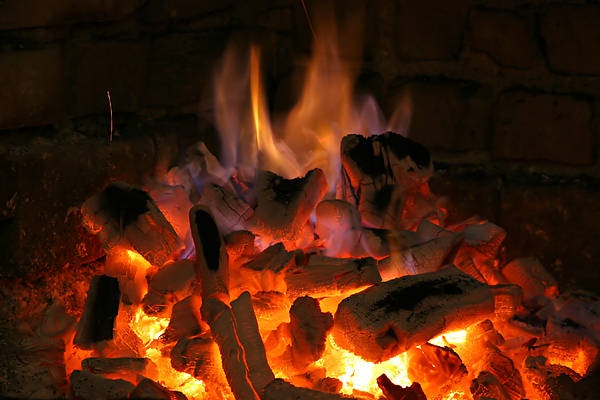 Fuel Element Photograph - Fireplace Flames by Francisco Leitao
