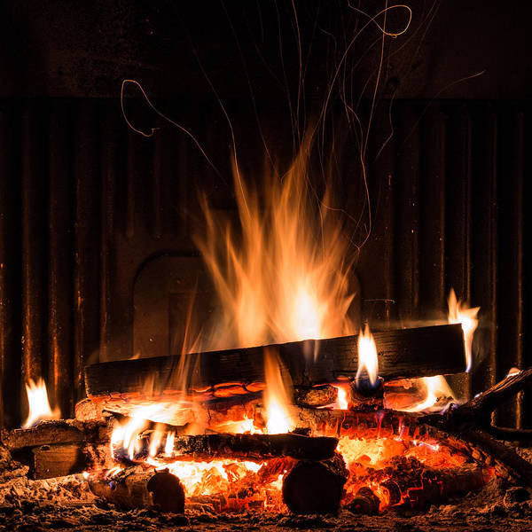Flammable Wall Art - Photograph - Fireplace With Fire by Andrea Casali