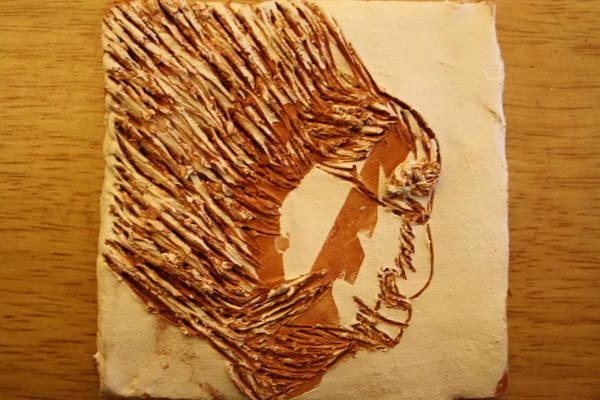 Ceramic Art - Fires Eyes - Tile by Gloria Ssali