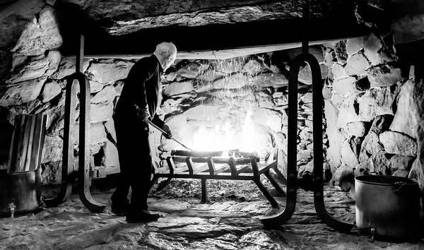 Photograph - Fireside At The Grove Park Inn by Karen Wiles