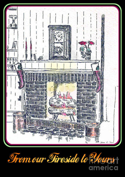 Drawing - Fireside by David Neace