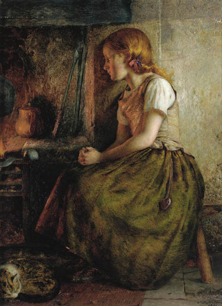 Wall Art - Painting - Fireside Thoughts by John Dawson Watson