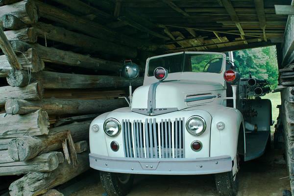 Firetruck Photograph - Firetruck In A Barn by Douglas Barnett