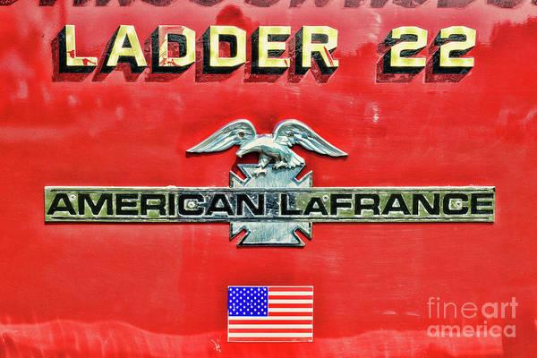 Wall Art - Photograph - Firetruck Ladder 22 by Paul Ward