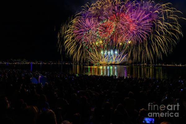 Evening Wall Art - Photograph - Fireworks 12 by Viktor Birkus