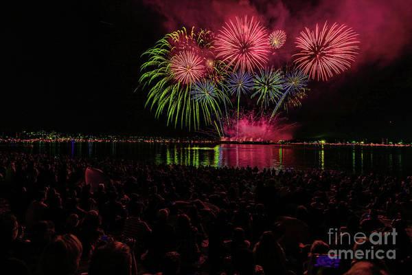 Evening Wall Art - Photograph - Fireworks 14 by Viktor Birkus