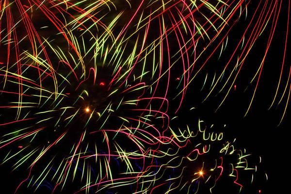 Photograph - Firework Abstract by Bonnie Follett