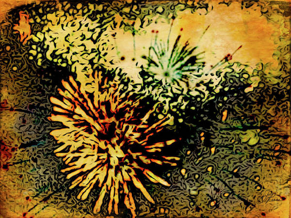 Painting - Fireworks 1 by Joan Reese