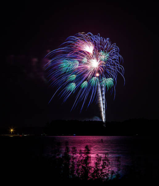 Photograph - Fireworks-2 by Charles Hite