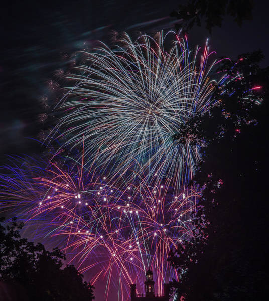 Photograph - Fireworks 4 by Jerry Gammon