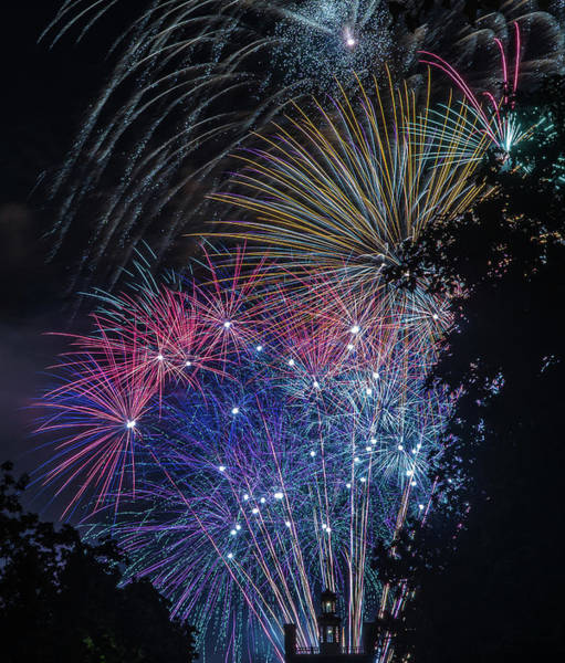 Photograph - Fireworks 5 by Jerry Gammon