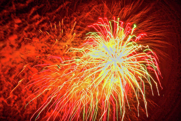Photograph - Fireworks 6 by Joan Reese