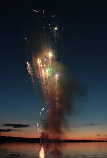 Photograph - Fireworks After Sunset by Kelly Hazel