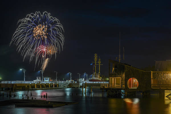 Photograph - Fireworks And 17th Street Docks by Robert Potts