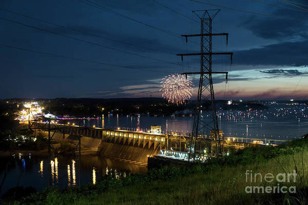 Missouri Ozarks Photograph - Fireworks At Bagnell Dam by Dennis Hedberg