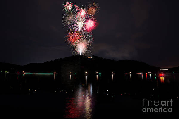 Photograph - Fireworks At Cheat Lake by Dan Friend