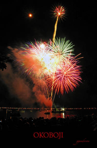 Fireworks At Lake Okoboji Art Print