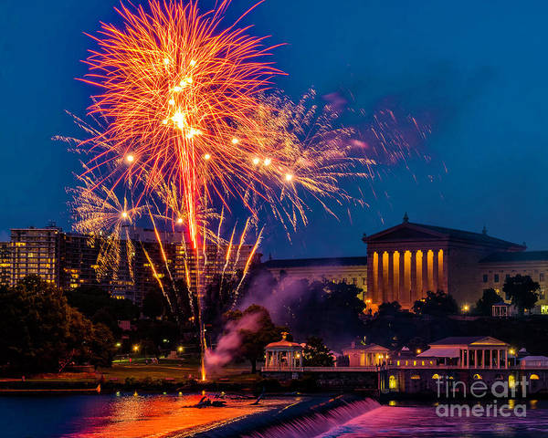 Photograph - Fireworks At The Art Museum by Nick Zelinsky