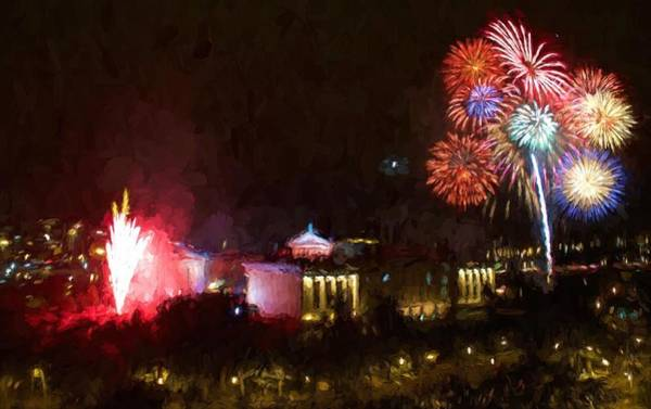 Photograph - Fireworks At The Museum by Alice Gipson