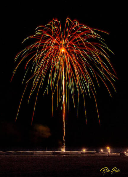 Photograph - Fireworks Big Shell by Rikk Flohr