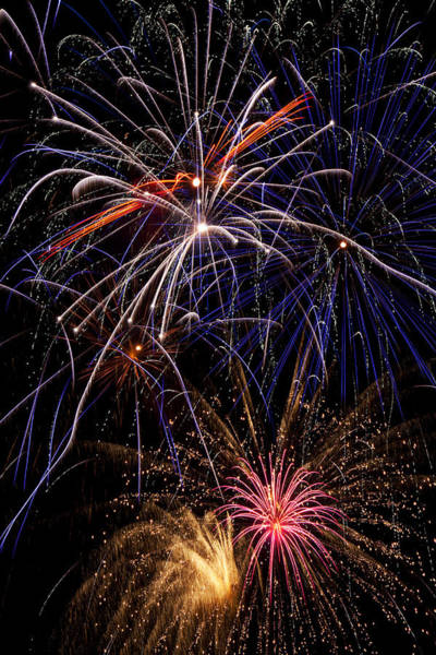 Fireworks Display Wall Art - Photograph - Fireworks Celebration  by Garry Gay