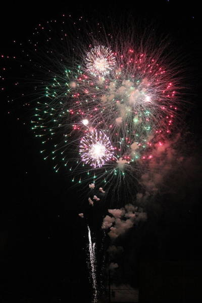 Wall Art - Photograph - Fireworks Finale  by Gayle Miller