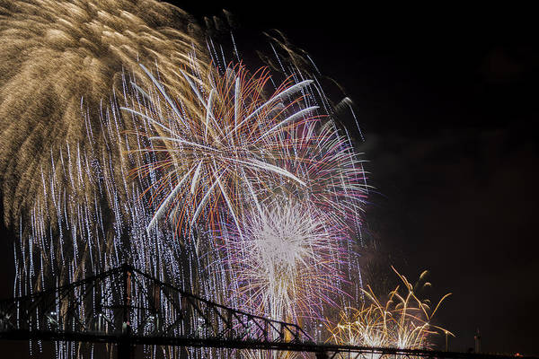 Wall Art - Photograph - Fireworks In Montreal by Michel Emery