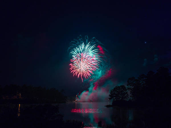 Fireworks In The Country Art Print